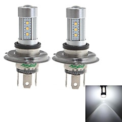 Zweihnder H4 15W 1450lm 6000-6500K 15x2323 SMD LED White Light Bulb for Car Foglight (10-30V,2 Pieces)