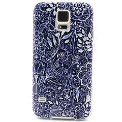 blommor mönster TPU material ringer fallet för Samsung Galaxy S3 s4 s5 s6 s6edge s3mini s4mini s5mini