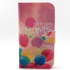 Balloon Pattern PU Leather Case with Card Slot and Stand for Samsung Galaxy S4 mini/S3mini/S5mini/S3/S4/S5/S6/S6edge