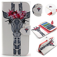 Giraffe Pattern with Card Bag Full Body Case for Samsung Galaxy S3/S4 Mini/ S5
