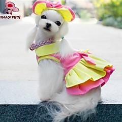 Gatos / Perros Vestidos / Bandanas y Sombreros Rosado / Amarillo Ropa para Perro Verano Boda / Cosplay