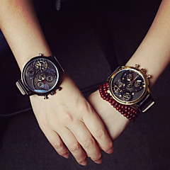 Women's Versatile  Leather High-Grade Three Outdoor Sports Wrist Watch Couple's Watch
