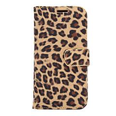 Para Capinha HTC Porta-Cartão / Carteira / Com Suporte / Flip Capinha Corpo Inteiro Capinha Estampa de Leopardo Rígida Couro PU HTC