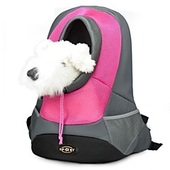 Dog Carrier Travel Bag Pet Backpack Head Out Carrier Portable / Breathable Fabric Green / Blue / Red / Yellow