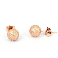 Κουμπωτά Σκουλαρίκια Κρίκοι Ανοξείδωτο Ατσάλι Α B Κοσμήματα Καθημερινά Causal 2pcs