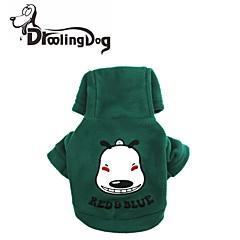 Rojo/Verde/Azul Polar Fleece - Saco y Capucha - Perros/Gatos -
