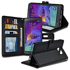 angibabe lichee mönster pu plånbok läderfodral till Samsung Galaxy Not5 n9200 5,7 tum (diverse färg)