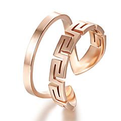 Ms Stainless Steel Plating 24 K Rose Gold Ring