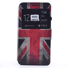 Voor Samsung Galaxy Note Kaarthouder / met standaard / met venster / Flip / Patroon hoesje Volledige behuizing hoesje Vlag Zacht PU-leer