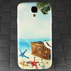 borr och sommar strand resväska mönster pc tillbaka täcker fallet för Samsung Galaxy S4 / 9500