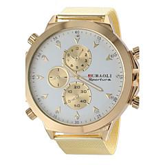Men's Military Design Fashion Gold Steel Band Quartz Wrist Watch Cool Watch Unique Watch