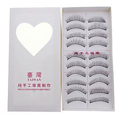 10 Pairs Soft Lengthening False Eyelashes