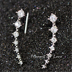 Sweet Stars Alloy Earring Studs(Three color)(1Pair)