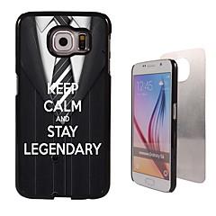 Para Samsung Galaxy Capinhas Estampada Capinha Capa Traseira Capinha Palavra / Frase PC Samsung S6