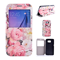 Peony Pattern PU Leather Phone Case For Samsung Galaxy S4 /S5 /S6/ S4 Mini / S5 Mini