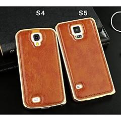 äkta läder bakstycket till Samsung Galaxy S5 / S4 (blandade färger)