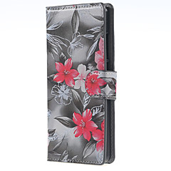 Full Body Wallet / Card Holder Flower PU Leather Hard Case Cover For HuaweiHuawei P9 / Huawei P9 Lite / Huawei P8 / Huawei P8 Lite /