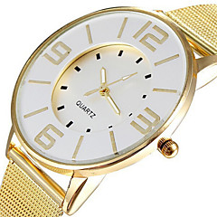 Fashion Popular Steel Mesh Band Gold Watch Women Luxury Brand Dress Quartz Watches Clock Hours Lady White Dial Cool Watches Unique Watches