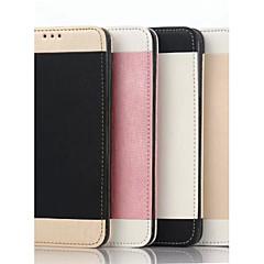 caz portofel clapa suport capac cereale aur coajă simplu telefon mobil pu pentru margine Samsung S6 plus culori asortate