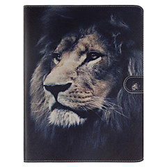 Lion Pattern PU Leather Full Body Case With Stand and Card Slot for iPad 2/3/4