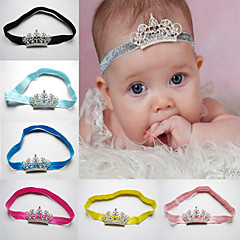 Fashion Princess Tiara Headband Baby Girl Toddler Infant Elastic Hairband Baby Hair Rhinestone Accessories
