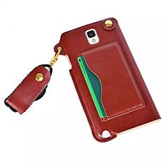 slot para cartão de couro pu pendurar corda pendurada ao redor do pescoço para Galaxy Note 4 / nota 3 / nota 2 (cores sortidas)