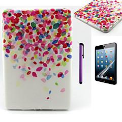 Cherry Blossoms Fall Pattern TPU Soft Back Cover Case for iPad Mini 3/iPad Mini 2/iPad Mini