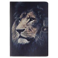 Lion Pattern PU Leather Full Body Case With Stand and Card Slot for iPad Air