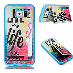 Red Sea pattern TPU Stick To Leather Card Holder Phone Case For Samsung Galaxy S3 /S4/S5/S6/ S6 edge/S4 Mini /S5 Mini
