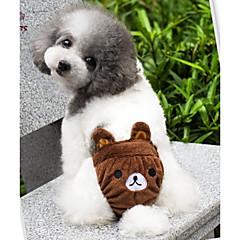 Γάτες / Σκυλιά Στολές / Σύνολα / Παντελόνια Κίτρινο / Καφέ / Ροζ Ρούχα για σκύλους Άνοιξη/Χειμώνας Κινούμενα σχέδιαΓάμος / Στολές Ηρώων /