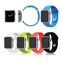 Sport horlogeband voor appelhorloge 38mm 42mm siliconen horlogeband met connector