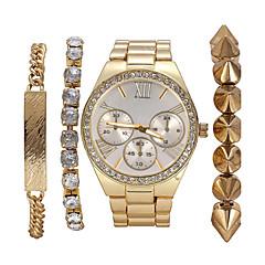 Dame Modeur Armbåndsur Quartz Rustfrit stål Bånd Bohemisk Perler Elegante Guld