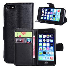 Til Etui iPhone 6 Etui iPhone 6 Plus Lommebok Kortholder med stativ Flipp Etui Heldekkende Etui Ensfarget Hard PU-lær tiliPhone 7 Plus