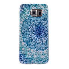 синий и белый узор тонкий прозрачный ТПУ материал телефон случае для Samsung Galaxy S6 / S6 край / S4 / S5 / S3