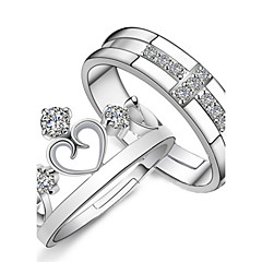 Crown Couple Rings Prince And Princess Wedding Ring 2pcs