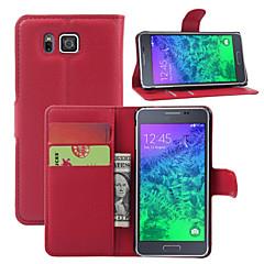 Mert Samsung Galaxy tok Kártyatartó / Pénztárca / Állvánnyal / Flip Case Teljes védelem Case Egyszínű Műbőr SamsungYoung 2 / Core / Alpha