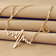 Necklace Pendant Necklaces Jewelry Wedding / Party / Daily / Casual Fashion Titanium Steel Gold 1pc Gift