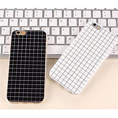 οι απλό μαύρο και άσπρο χρώμα ματ περιπτώσεις μικρών πλέγμα TPU για iphone6s 6 συν