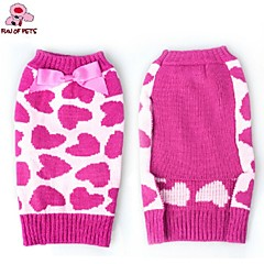 Cat / Dog Coat / Sweater Rose Dog Clothes Winter Bowknot / Hearts Christmas