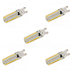 ywxlight® 5pcs E14 / G9 / G4 / E17 / E12 / E11 / BA15d 12w 152x3014 SMD 1200LM bianca calda / AC 110V / 220V