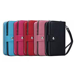de ji pu portofel din piele cu fermoar geantă de mână pungă cu capac cazul în care telefonul slot pentru card de margine Samsung S6 plus
