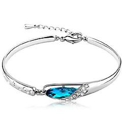 Woman Glass Slipper Aquamarine Sterling Silver  Bracelets