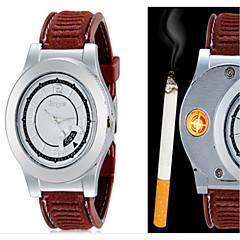 Masculino Relógio de Pulso Único Criativo relógio Quartzo PU Banda Criativo Preta Marrom Branco Preto Marron