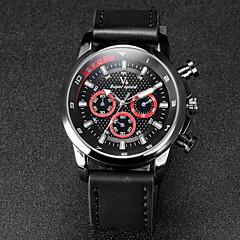 V6 Αντρικά Ρολόι Καρπού Χαλαζίας Γιαπωνέζικο Quartz Δέρμα Μπάντα Μαύρο Χακί Λευκό Μαύρο Μαύρο/Κόκκινο Χακί Μαύρο/Μπλε