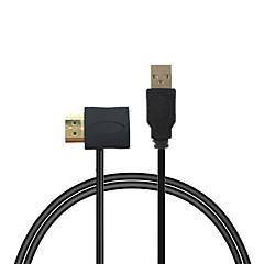 cwxuan ™ HDMI man naar vrouw adapter connector + usb 2.0-laadkabel