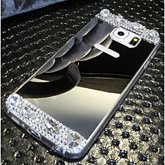 elettrodeposizione di alta qualità a specchio con la copertura posteriore del diamante per la galassia S6 / S6 bordo (colori assortiti)