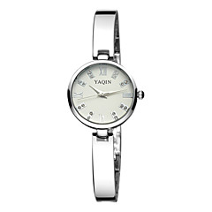 Yaqin® Women's Rhinestone Roman Number Quartz Silver Band Bracelet Watches Cool Watches Unique Watches