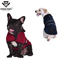Γάτες Σκυλιά Παλτά Veste Κόκκινο Πράσινο Μπλε Καφέ Ρούχα για σκύλους Χειμώνας Άνοιξη/Χειμώνας Μονόχρωμο Διατηρείτε Ζεστό Rezistent la Vânt