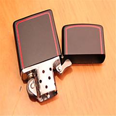 le classique rouge pur boîte briquets métal