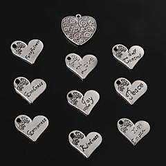 Charms / Pendants Metal Heart Shape As Picture 2-5pcs